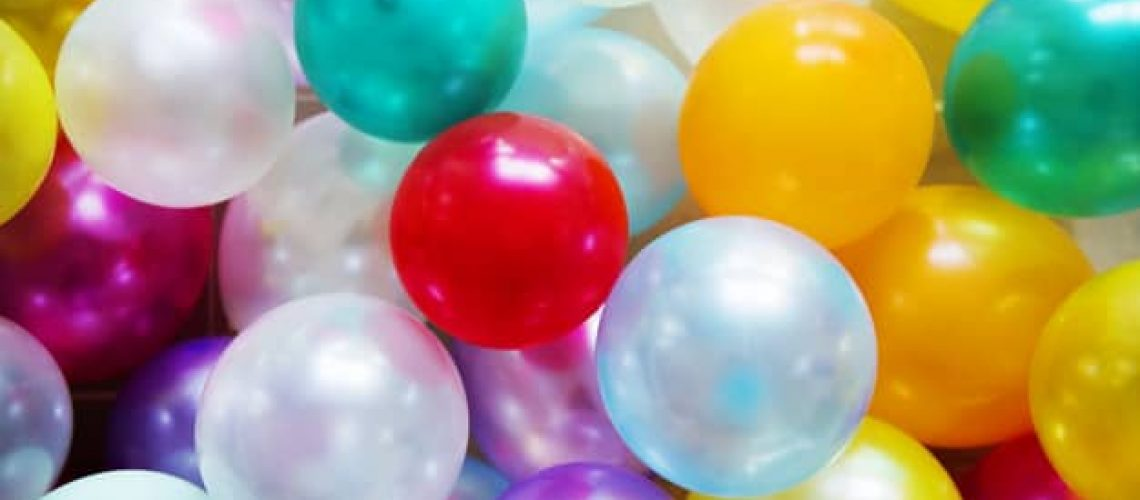 Colorful balloons festive party concept
